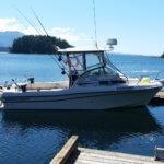 GradyWhite boat in Nootka Sound