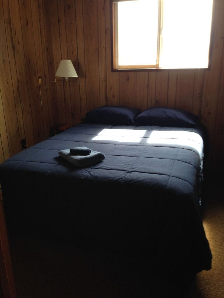 Bedroom at Nootka Island Lodge