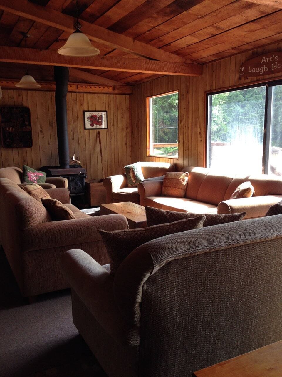 Inside Nootka Island Lodge main area