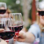 Red Wine Glasses Cheersing