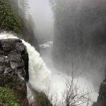 Elk Falls Water Fall looking at Bridge