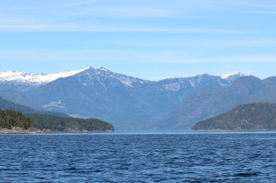 Landscape of Mountains and small islands in front