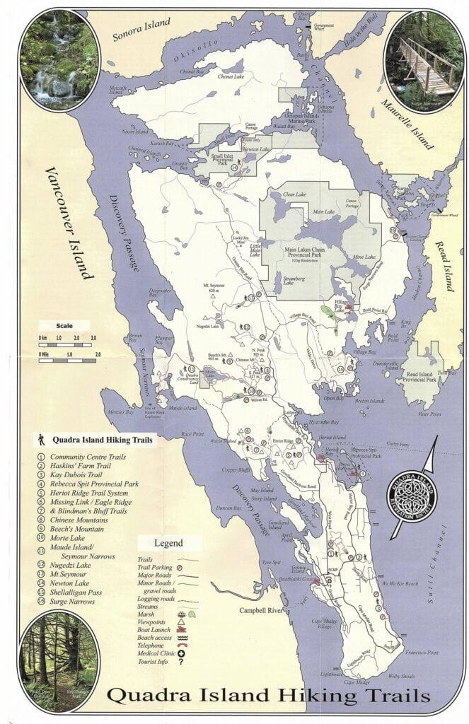Quadra Island Trail Map